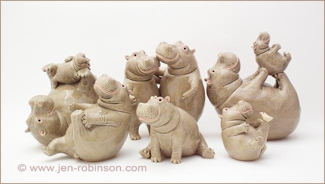 Jen Robinson, ceramic animals - News
